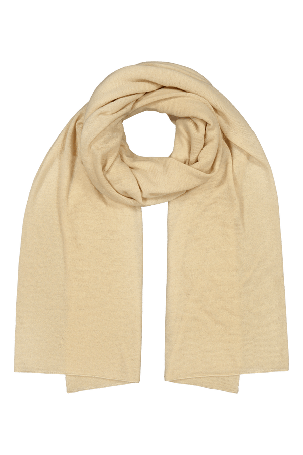 Knitted Cashmere Scarf, Coconut