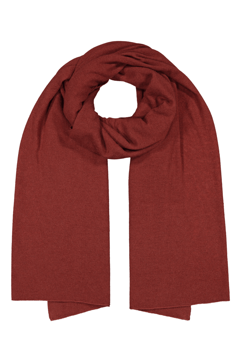 Knitted Cashmere Scarf, Rhubarb