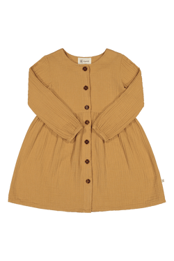 Button Dress Ls, Fudge