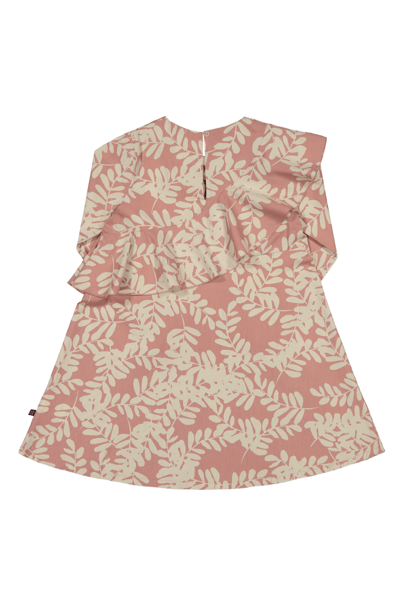 Flounce Dress Ls, Rose Garland