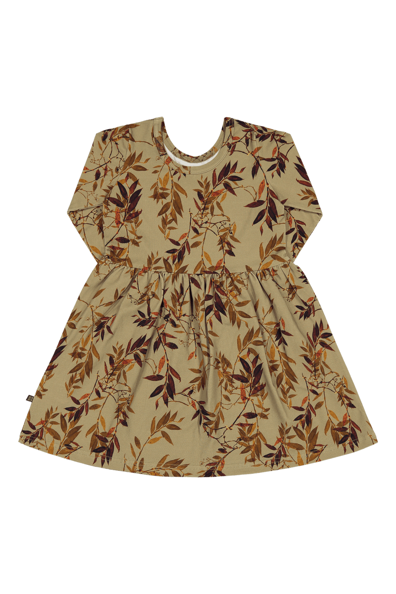Golden Botany Dress LS