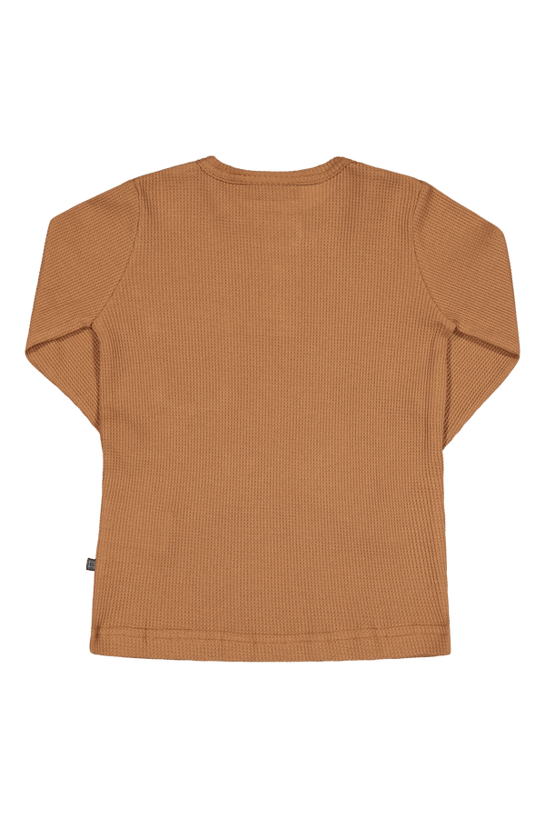 Henley Shirt LS, Toffee