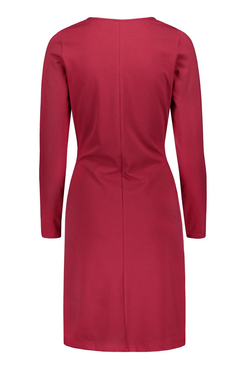 Belted Dress Ls, Goji