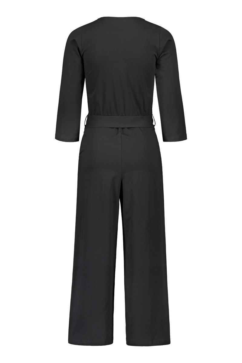 Belted Jumpsuit, Black