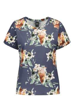 Everyday T-shirt Ss, Blue Blossom