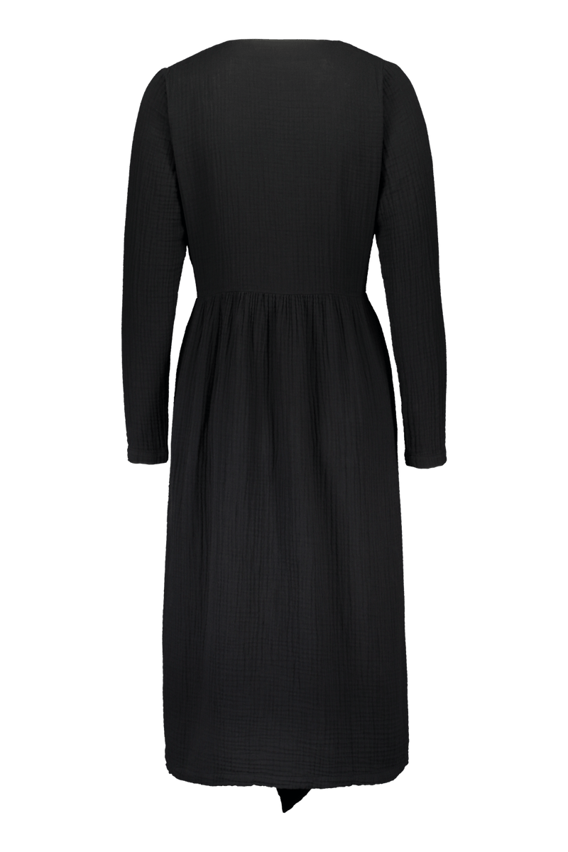 Wrap Midi Dress, Black