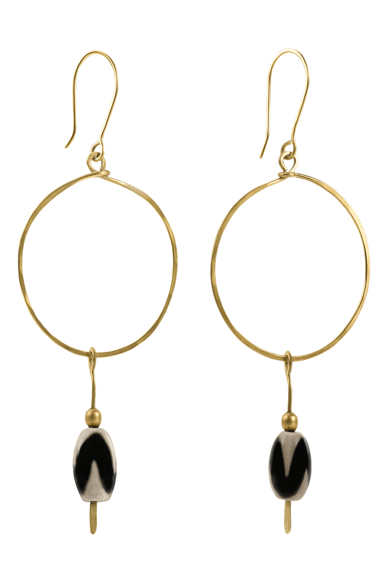 Avie Earrings, Black