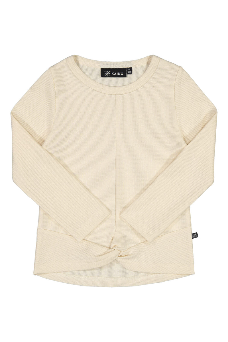 Wrap Hem T-shirt Ls, Almond