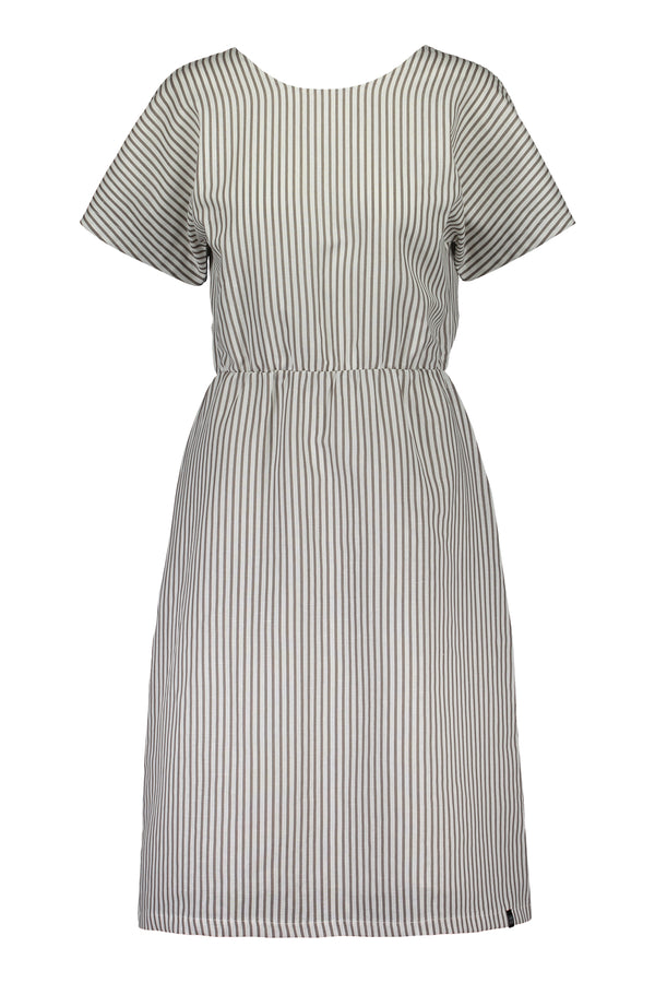 Linen Wrap Dress, Falcon Stripe