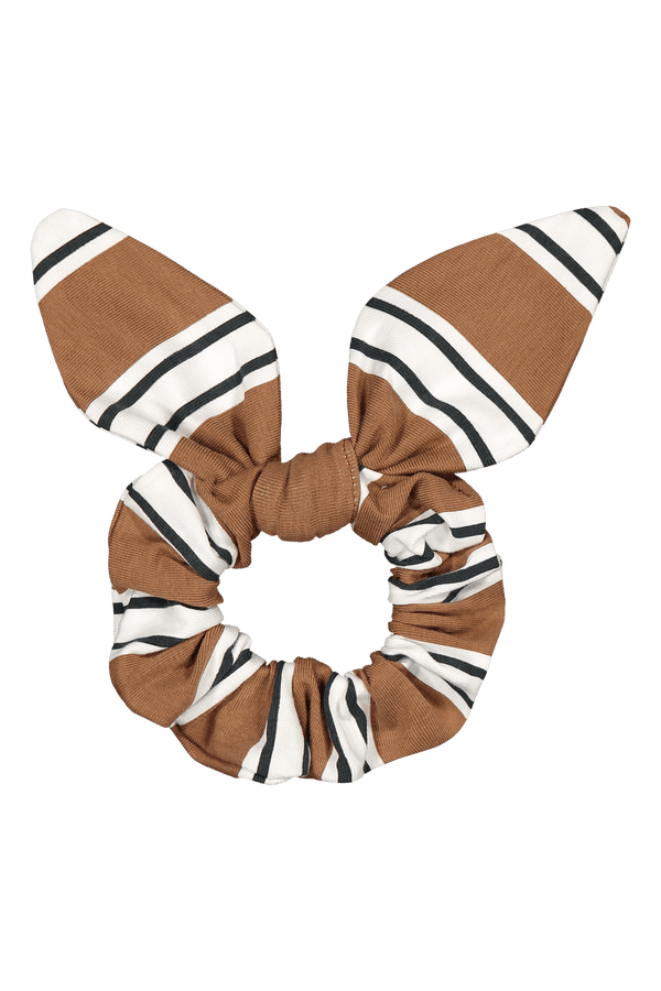 Bow Scrunchie, Hazel Stripe