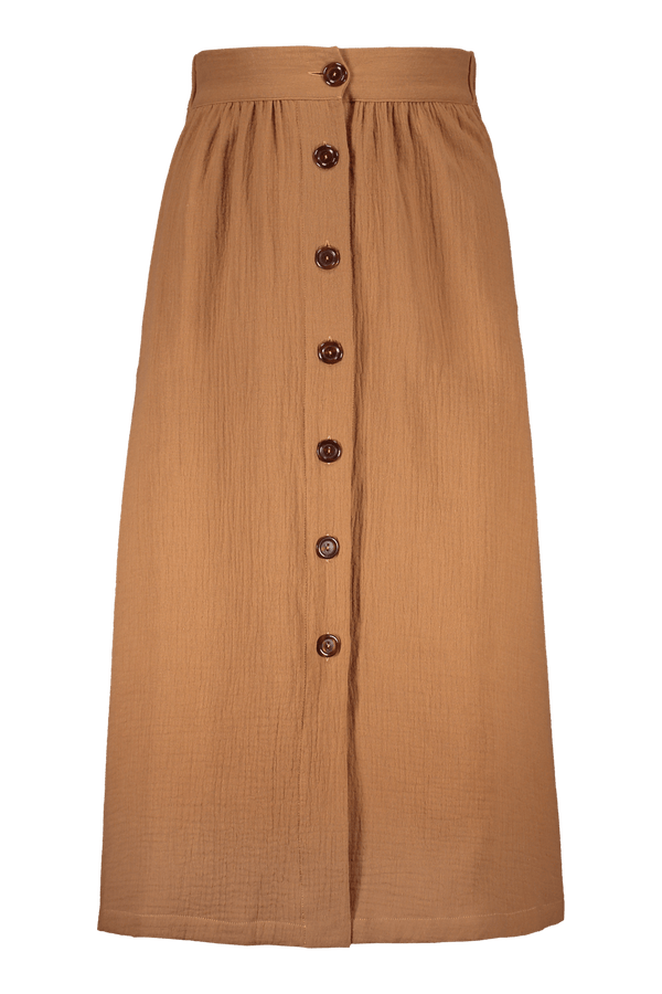 Button Skirt, Nougat