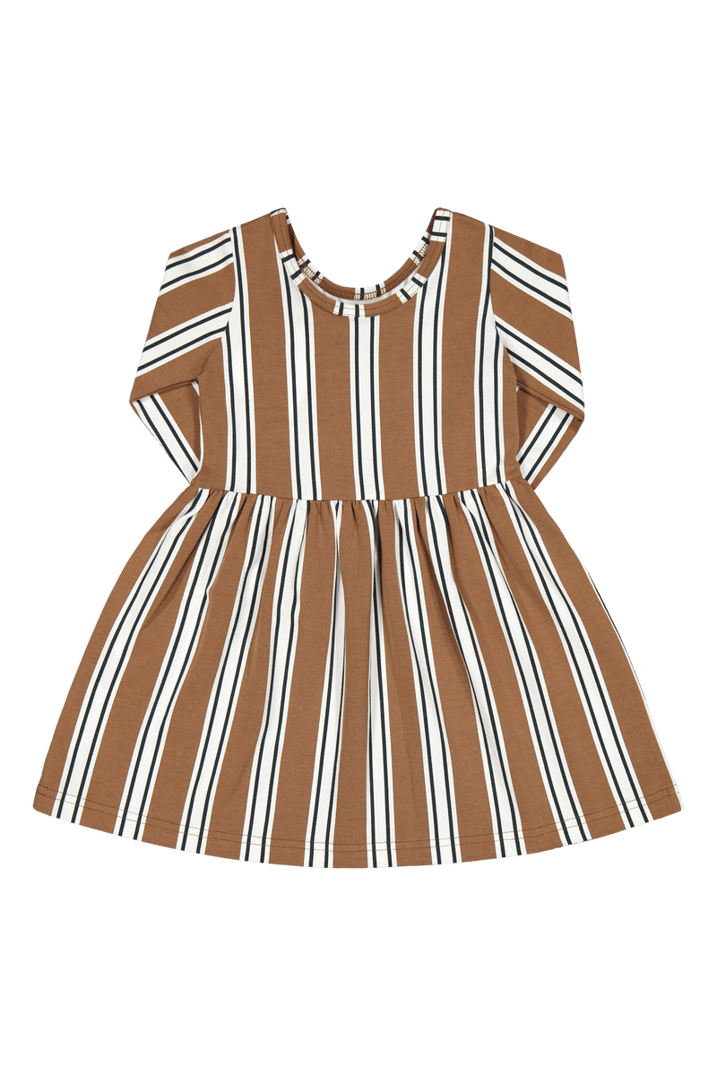 Hazel Stripe Dress 3/4sl