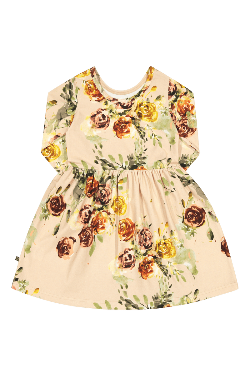 Rose Yard Dress 3/4sl