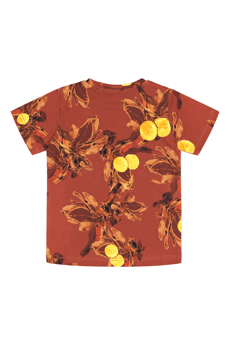 Treasure T-shirt SS, Amber Orange
