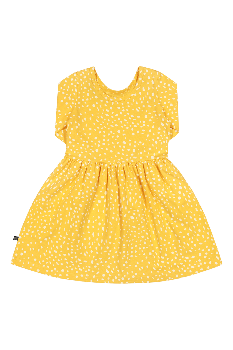 Wild Dots Dress 3/4 sl, Citrus
