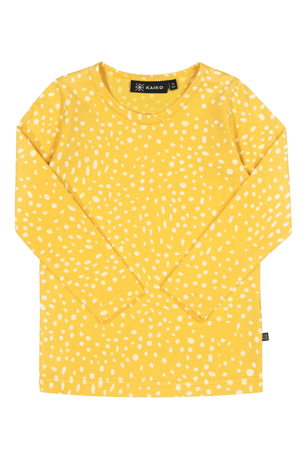 Wild Dots T-shirt Ls, Citrus