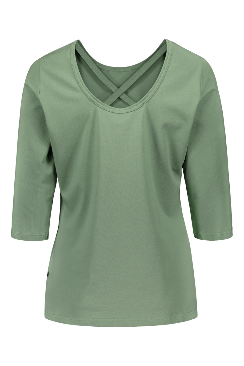 Cross Shirt 3/4sl, Sage