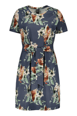 T-shirt Dress Ss, Blue Blossom