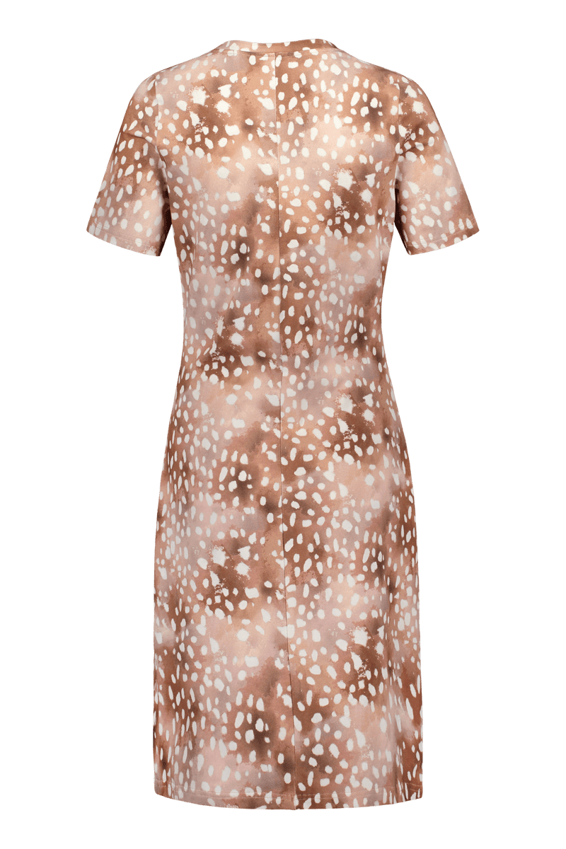 T-shirt Dress SS, Copper Bambi