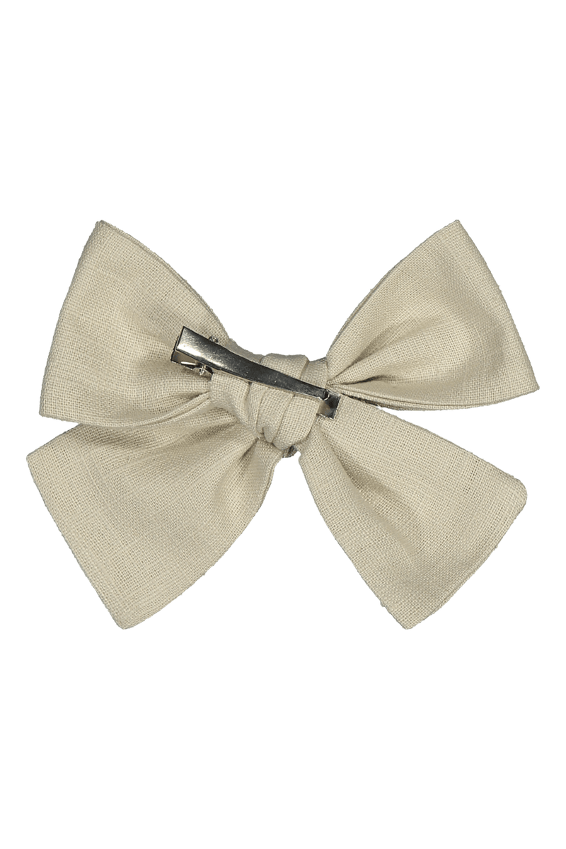 Bow Hairclip, Beige