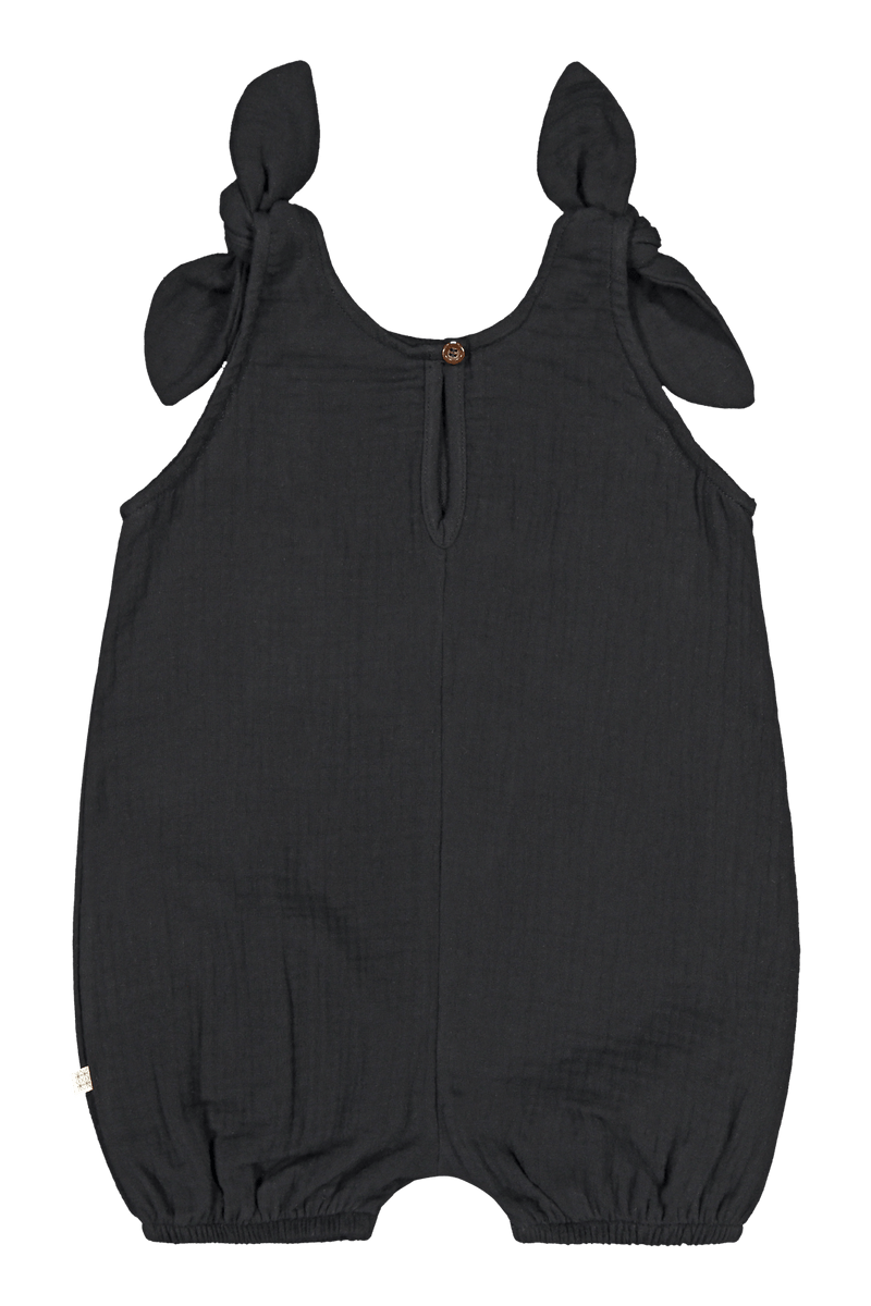 Balloon Playsuit, Black