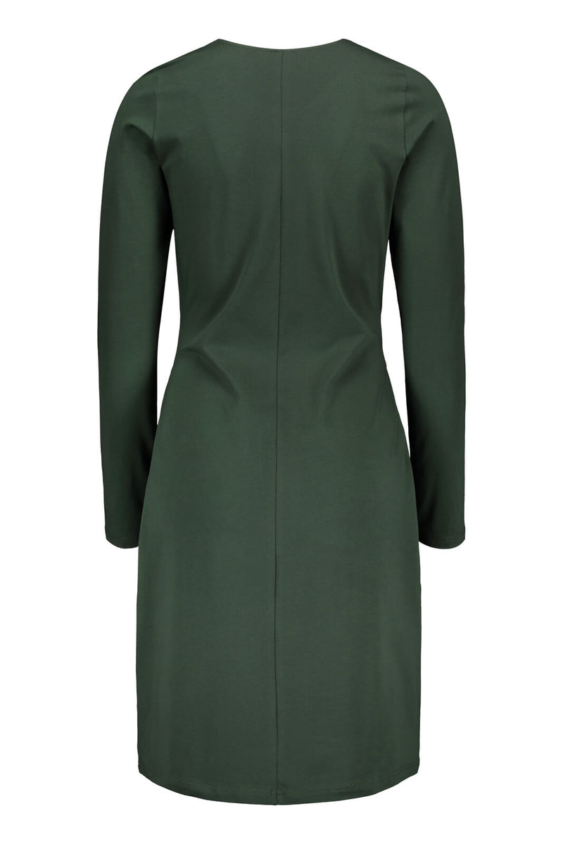 Belted Dress Ls, Forest