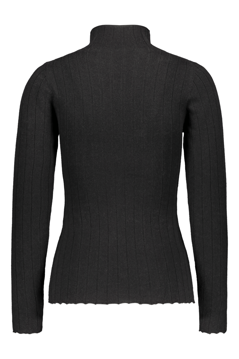 Cashmere Turtleneck, Black