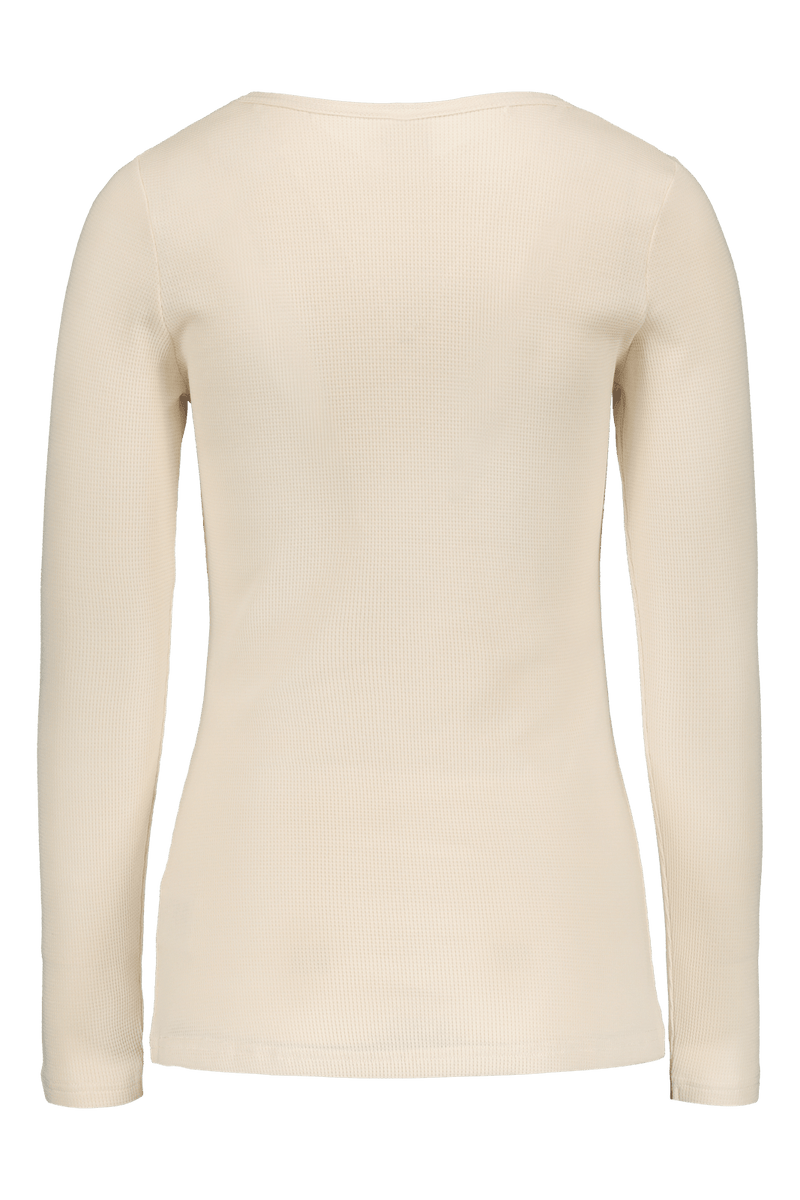 Henley Shirt Ls, Almond