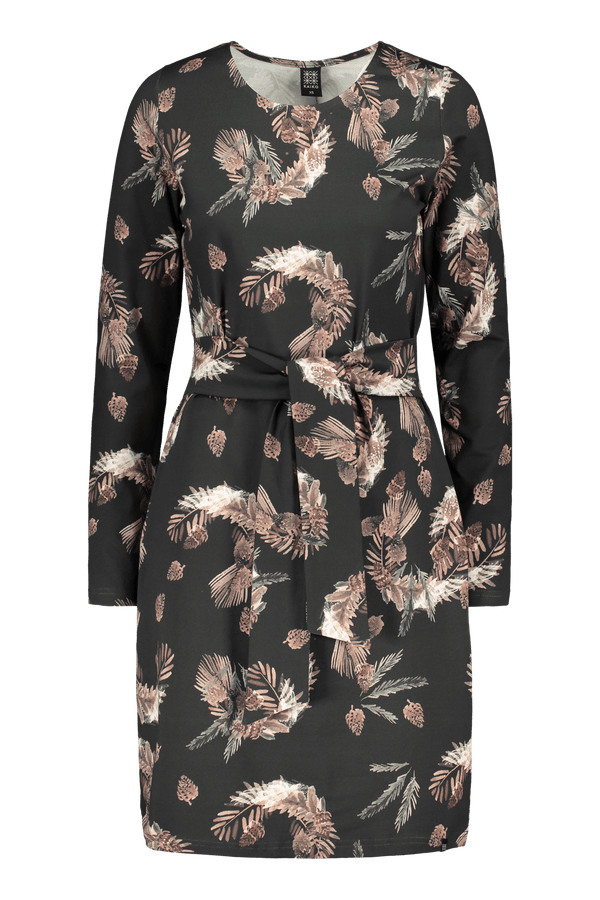 Belted Dress Ls, Pine Branch