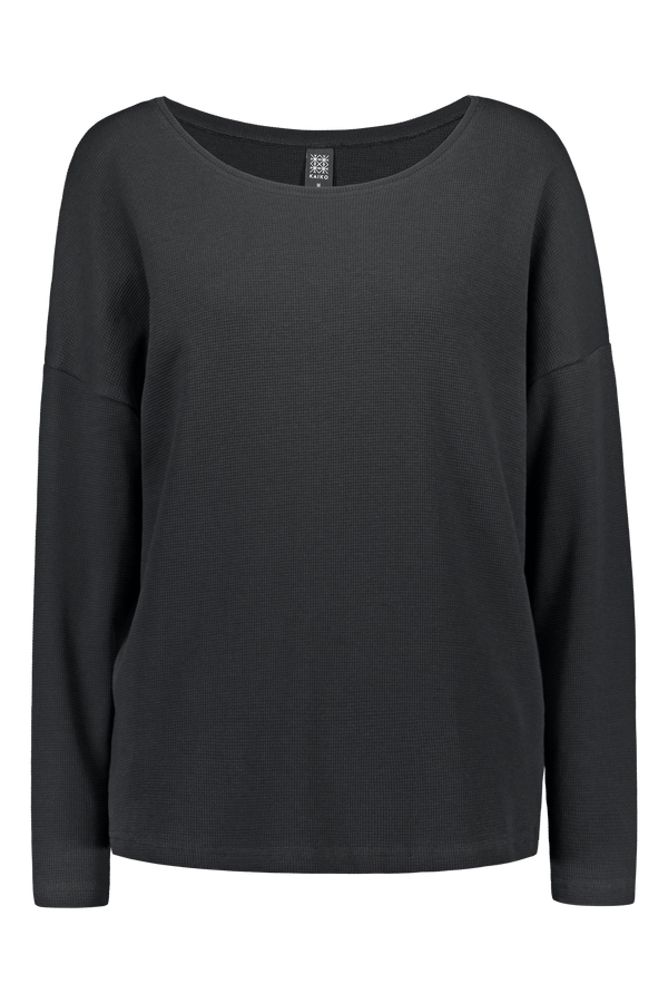 Boxy Shirt Ls, Black