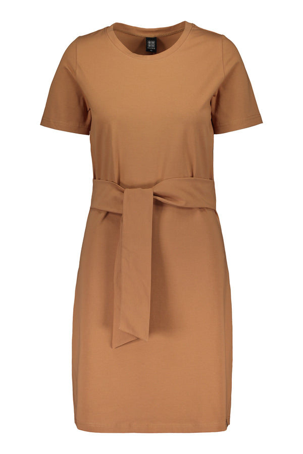 T-shirt Dress SS, Caramel