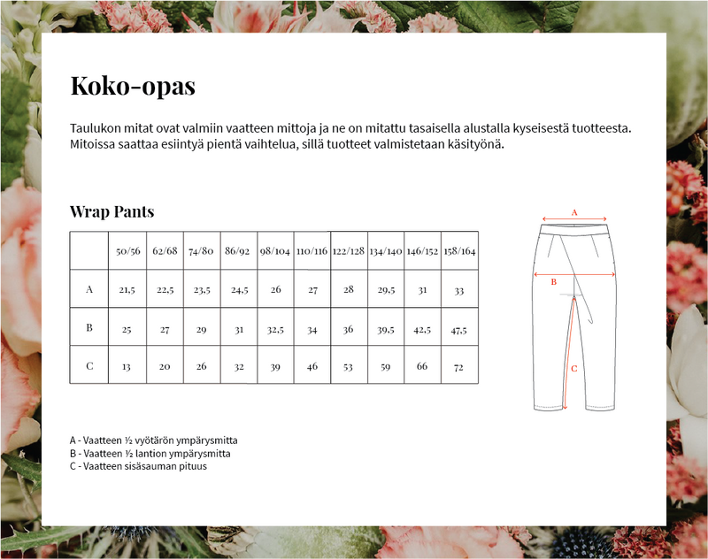 Wrap Pants, Eucalyptus