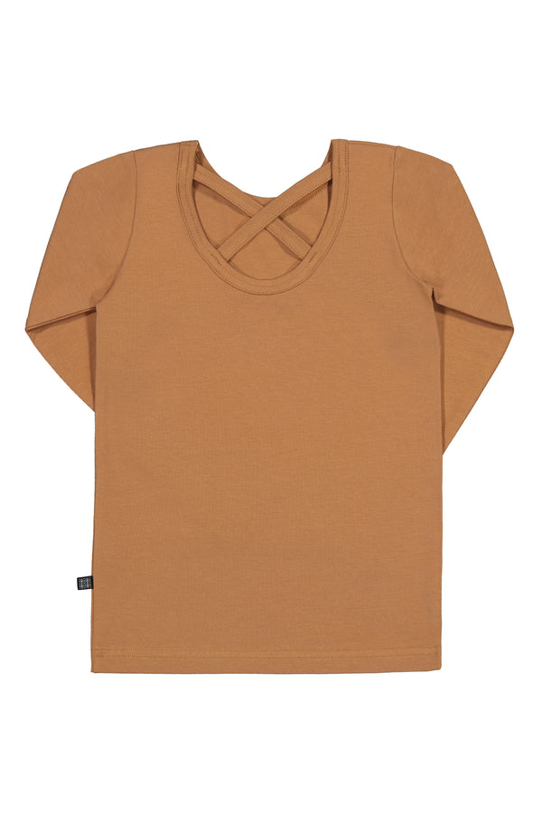 Cross Shirt LS, Caramel