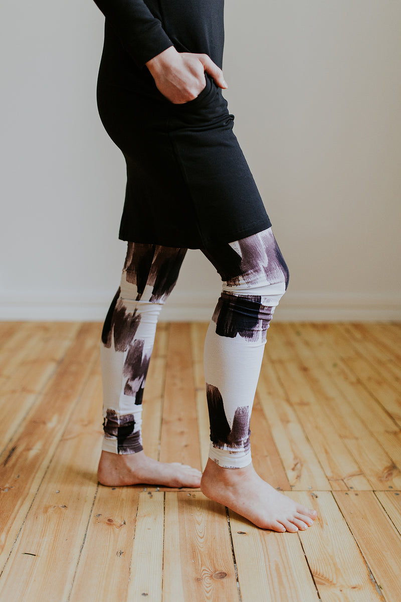 Leggings, Burgundy Brush