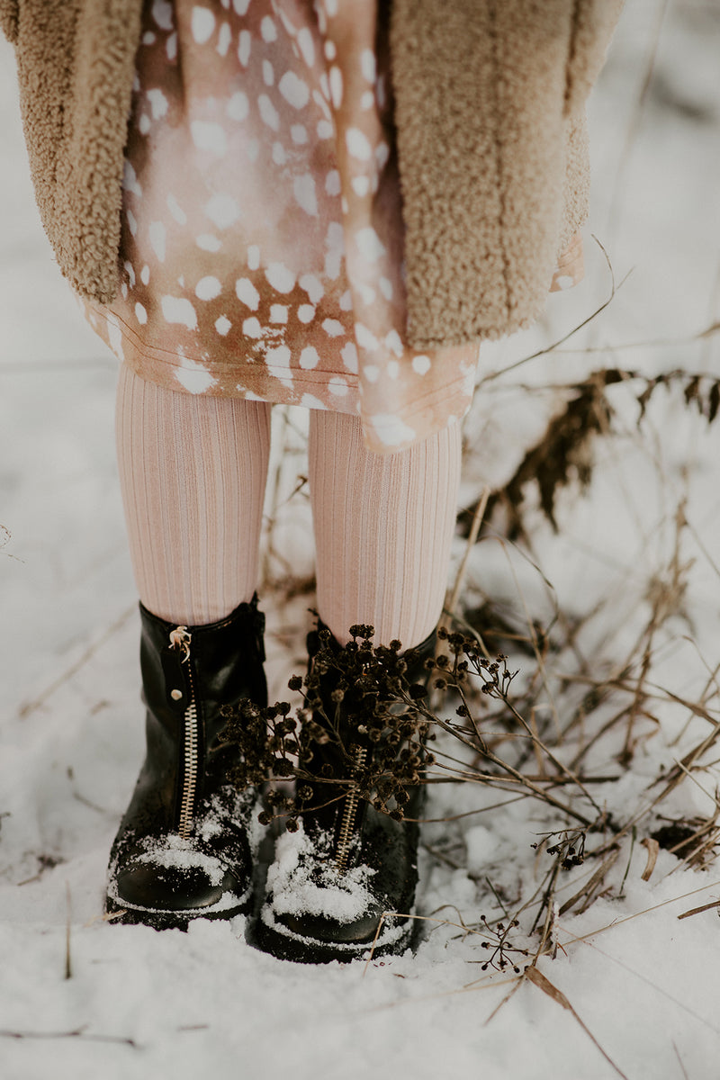 Rib Tights, Blush