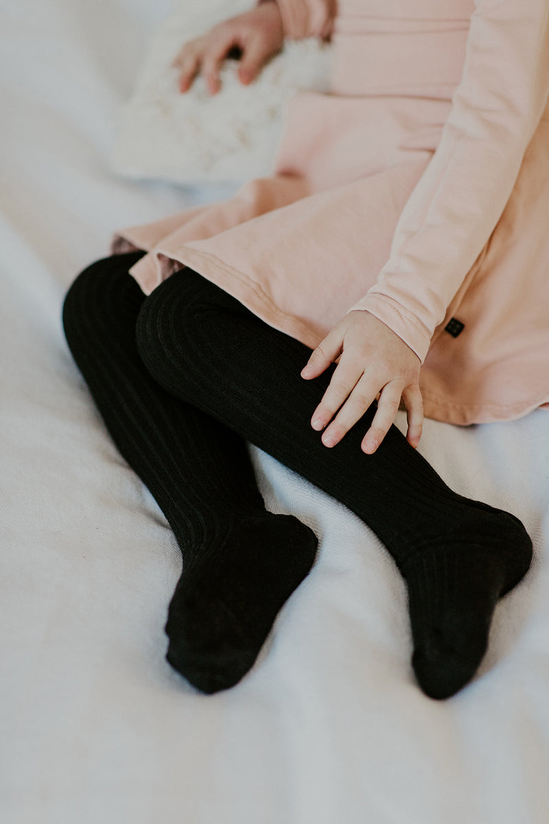 Rib Tights, Black