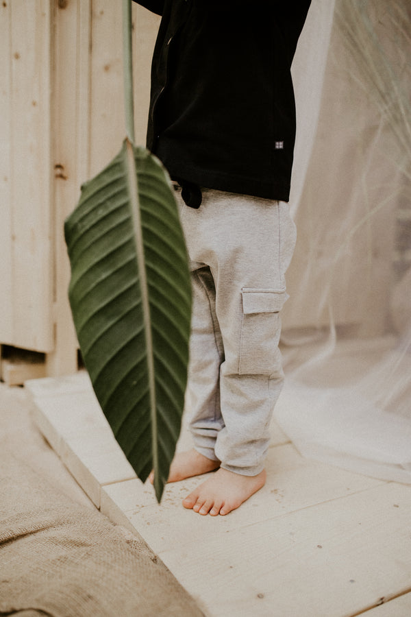 Cargo Joggers, Light Grey Mel.