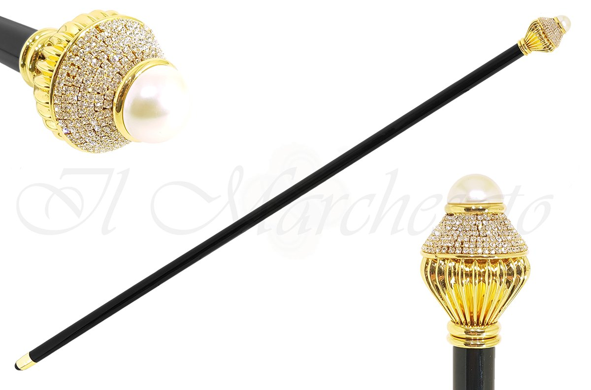 Luxury Walkingsticks - Swarovski Crystal Encrusted Knob - il-marchesato