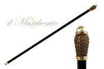 Carica l'immagine nel visualizzatore di Gallery, WALKING STICKS WITH PEARL AND BLACK STRASS