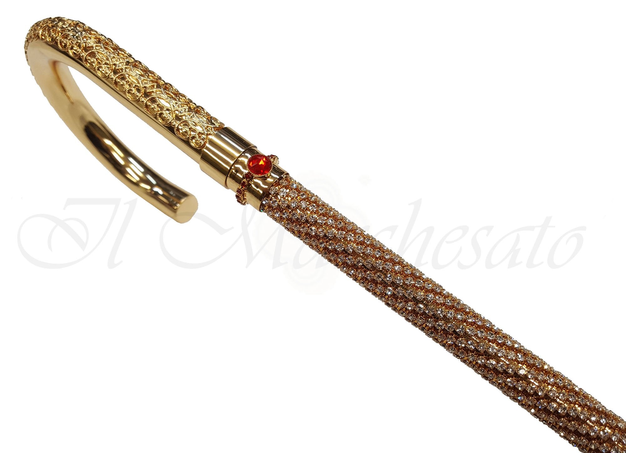 Luxury Walking Cane Encrusted with Swarovski Crystals - il-marchesato