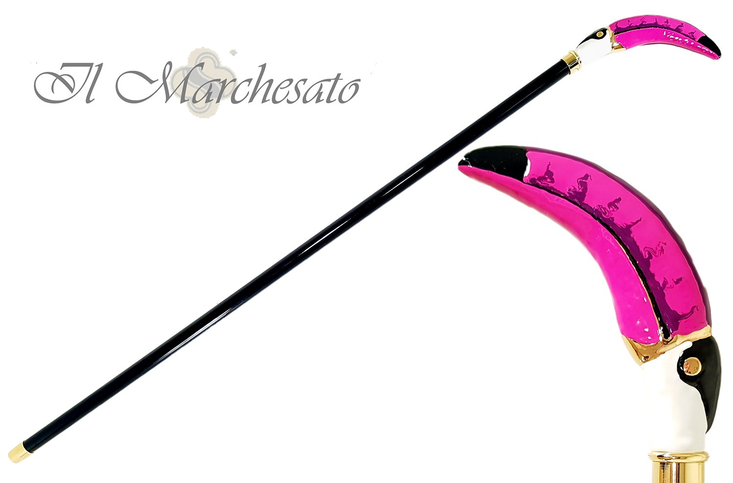 Original Toucan Walking stick - il-marchesato