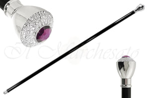 Elegant Walking Sticks - Swarovski Crystal Encrusted Knob - il-marchesato