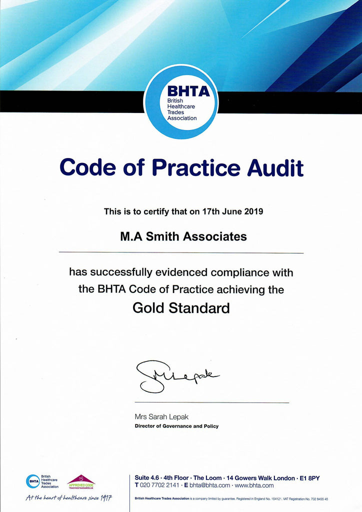BHTA - Gold Standard Awarded