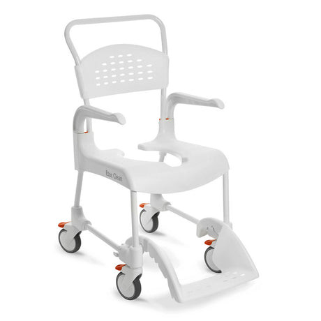 ETAC Clean Shower & Commode Chair with 2 or 4 Lockable Wheels - 44cm, 49cm, 55cm & 60cm (Green)