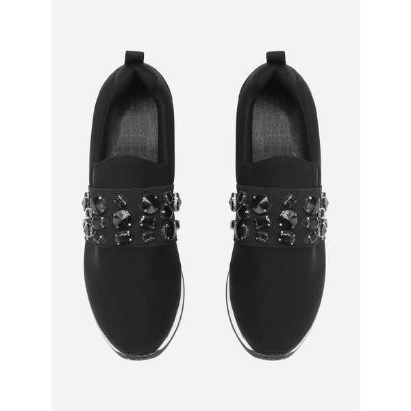 Studded Detail Low Top Trainers - Anabella's
