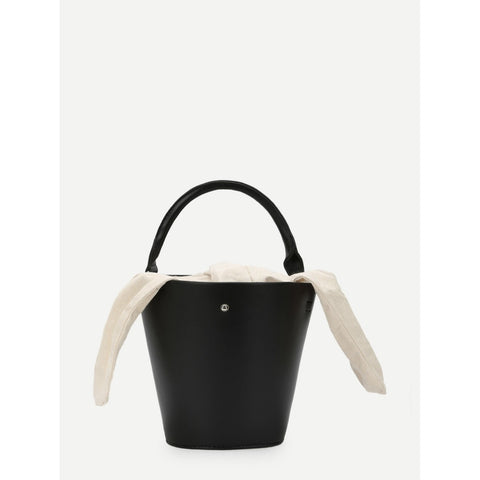 Bucket Crossbody Bag With Knot