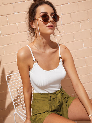 Ribbed Solid Cami Top