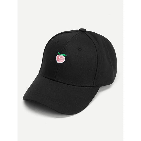 Peach Embroidered Baseball Cap