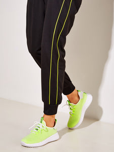 Neon Lime Lace-up Front Trainers