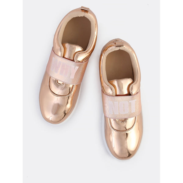 Why Not Metallic Sneakers ROSE GOLD - Anabella's